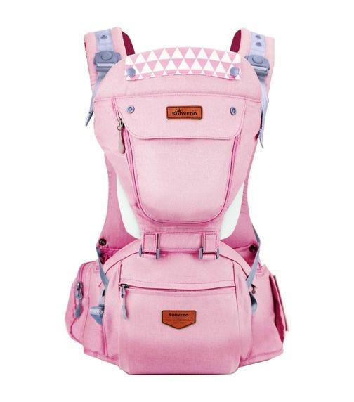 SUNVENO Kangaroo Style Ergonomic Baby Carrier - Pink