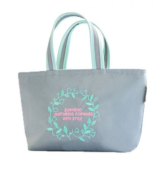 SUNVENO Insulated Lunch Bag - Embroidery Grey