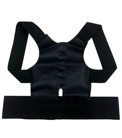 SUNVENO Posture Correction Back Support Belt - Black