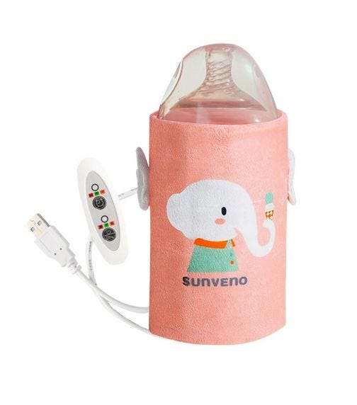 SUNVENO Portable Milk Bottle Warmer With Sub - Pink