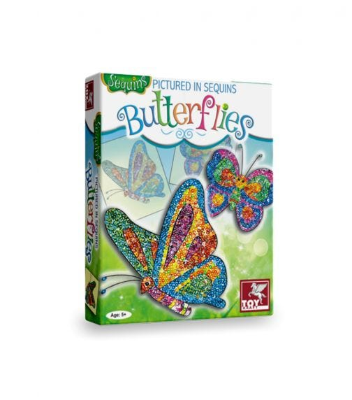TOY CRAFT Pictured In Sequins Butter Flies