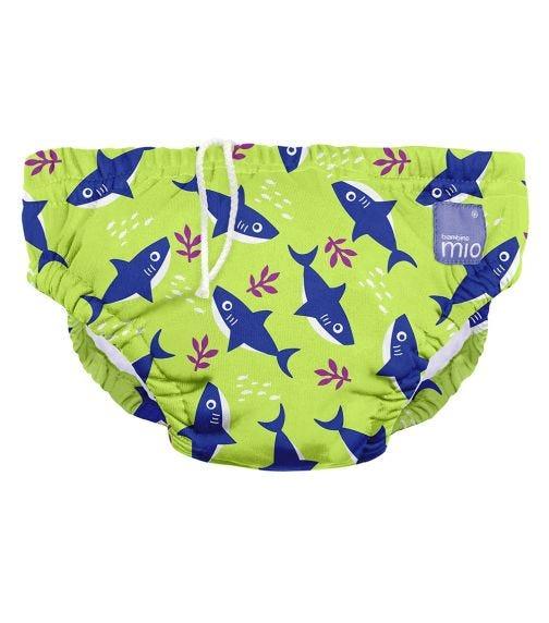 BAMBINO MIO Reusable Swim Nappy Neon Shark Medium 6-12 Months
