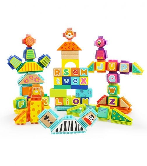 TOPBRIGHT Wild Animal Bristle Building Blocks