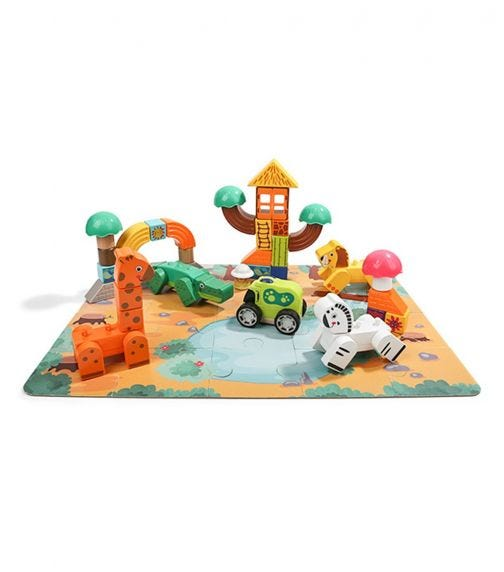 TOPBRIGHT Forest Animal Building Blocks