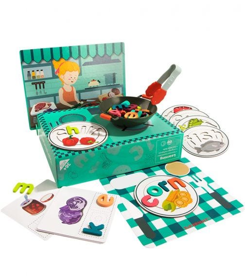 TOPBRIGHT ABC Spell & Play Food Box