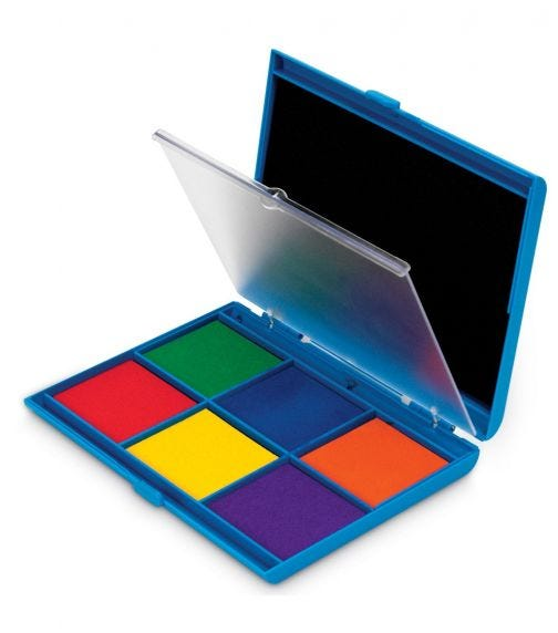 LEARNING RESOURCES 7 Color Washable Ink Stamp Pad