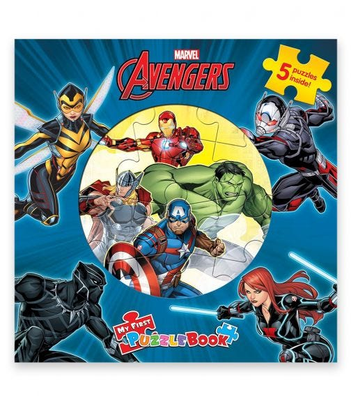 PHIDAL Marvel Avengers New My First Puzzle Book