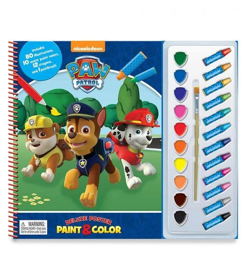 PHIDAL PAW PATROL Deluxe Poster Paint & Color