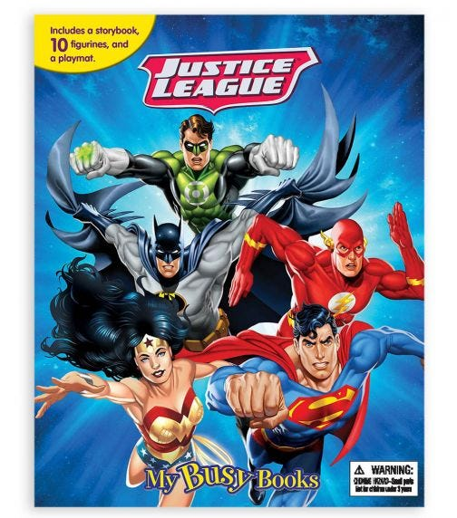 PHIDAL Dc Justice League My Busy Book
