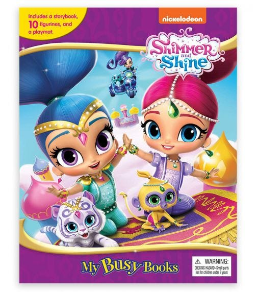 PHIDAL Nick Shimmer Shine My Busy Book