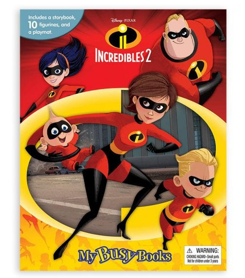 PHIDAL Disney The Incredible 2 My Busy Books