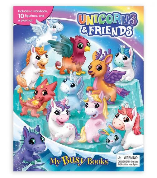PHIDAL Unicorns My Busy Books