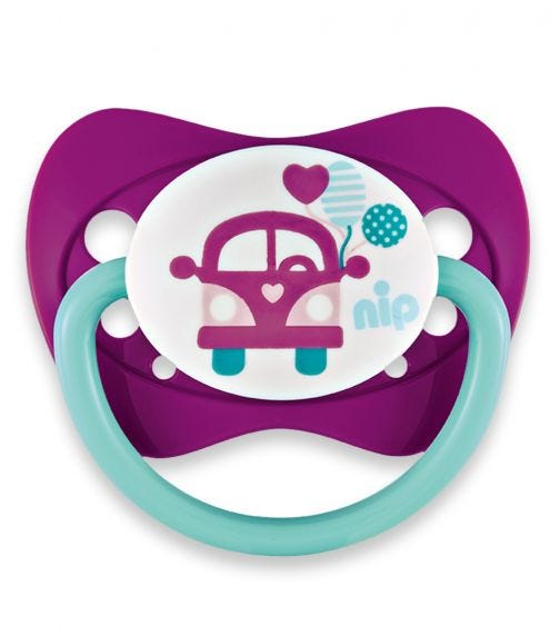 NIP Family Soothers - Silicone - Bus & Fruit - 0-6 Months
