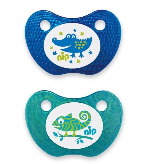 NIP Feel! Soothers - Silicone - Blue & Turquoise - 0-6 Months