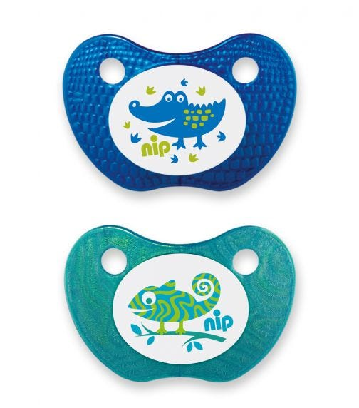 NIP Feel! Soothers - Silicone - Blue & Turquoise - 5-18 Months