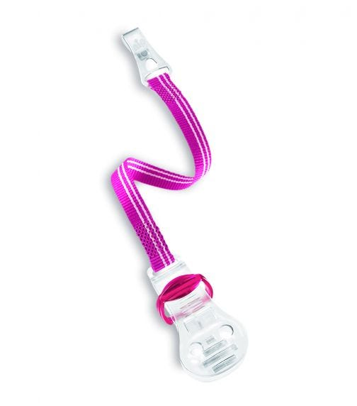 NIP Soother Band With Hook - Pink