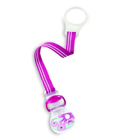 NIP Soother Band With Ring - Pink