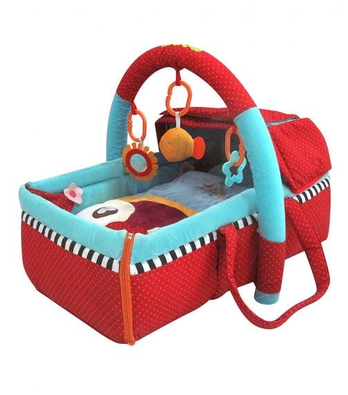 QTOT 2 In 1 Deluxe Snuggle Basket & Mat