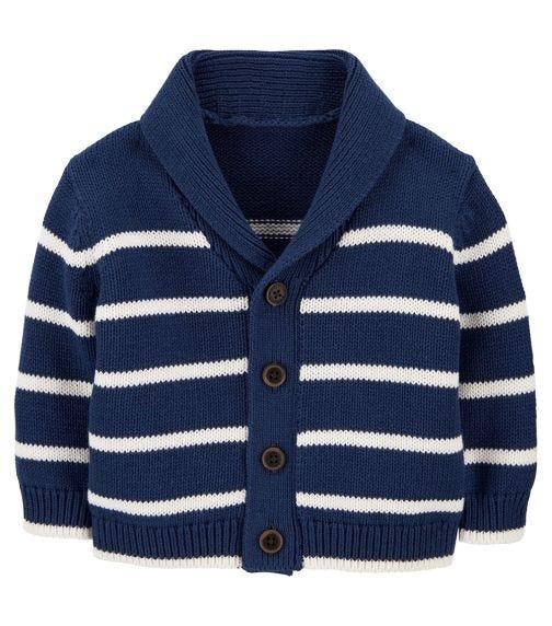 OSHKOSH Shawl Collar Striped Cardigan