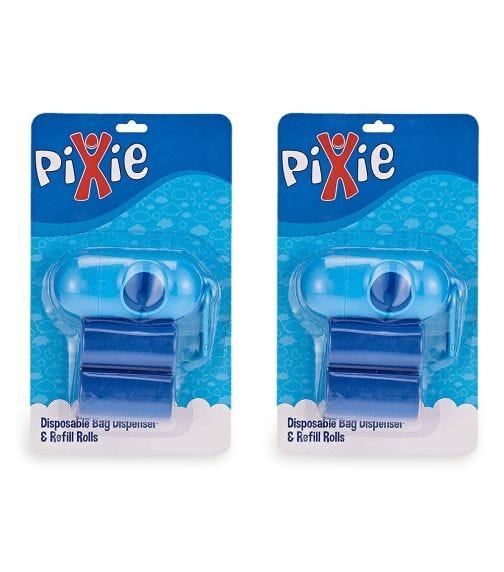 PIXIE Disposable Dispenser Bag & Refill, Blue (Bundle Of 2)