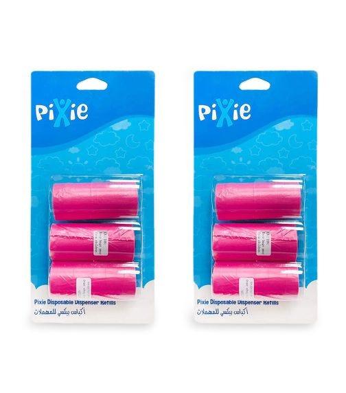 PIXIE Disposable Dispenser Refill, Pink (Bundle Of 2)
