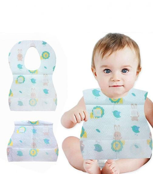 PIXIE Disposable Bibs With Crumb Pocket (Bundle Of 3)