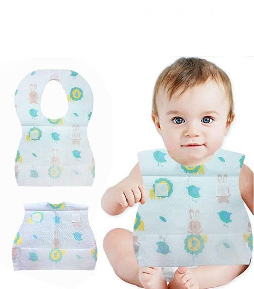 PIXIE Disposable Bibs, Pack Of 8 X 20 (160 Counts)