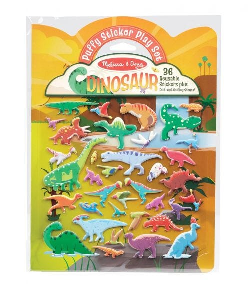 MELISSA&DOUG Puffy Sticker Pad Dino