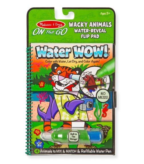 MELISSA&DOUG Water Wow! Wacky Animals Water Reveal Flip Pad