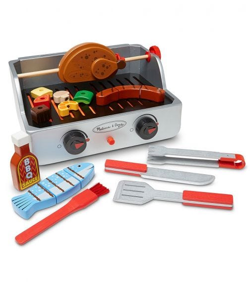 MELISSA&DOUG Rotisserie & Grill Barbecue Set