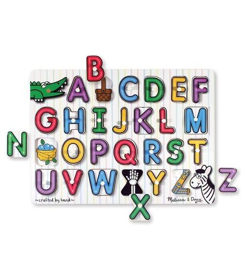MELISSA&DOUG See-Inside Alphabet Peg