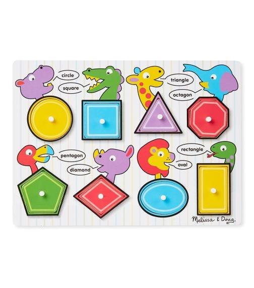 MELISSA&DOUG Shapes Peg Puzzle
