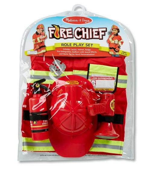 MELISSA&DOUG Fire Chief Role Play Costume Set