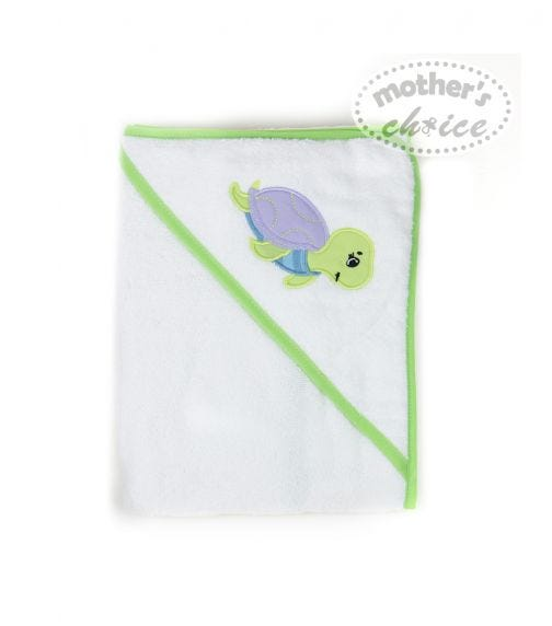MOTHER'S CHOICE Hooded Towel Turtle