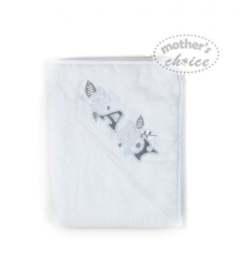 MOTHER'S CHOICE Hooded Towel Baby Grey