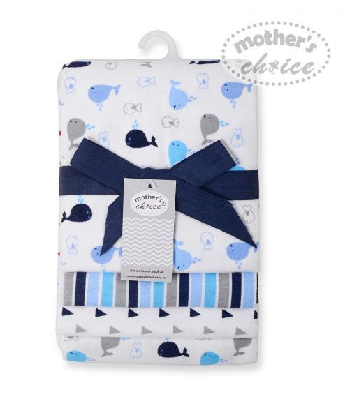 MOTHER'S CHOICE Baby 4 Pack Flannel Wrap