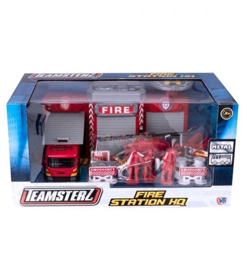 TEAMSTERZ  4 Fire He Playset 14 Piece