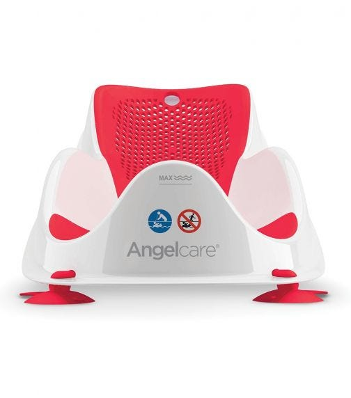 ANGELCARE Soft Touch Mini Bath Support Coral Red