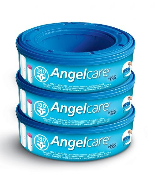 ANGELCARE Nappy Disposal System Refill Cassettes 3Pack