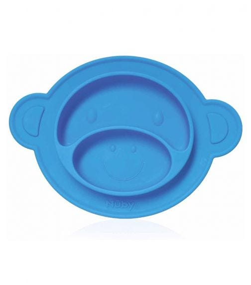 NUBY Miracle Suction Plate Monkey 3 Pieces
