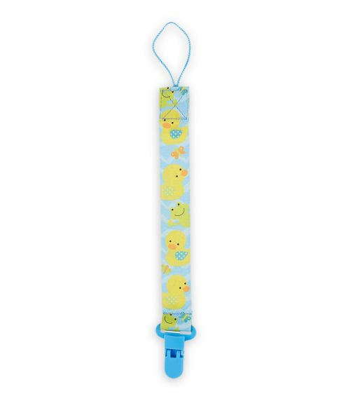 PIXIE Pacifier Holder Duck Print - Pack Of 4