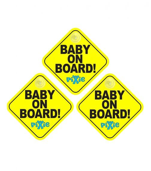 PIXIE Baby On Board (Pack Of 3)
