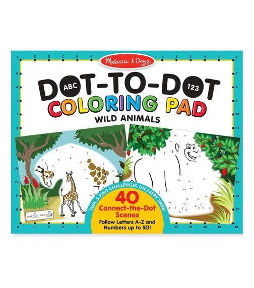 MELISSA&DOUG Abs 123 Dottodot Coloring Pad Wild Animals