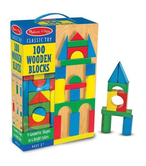 MELISSA&DOUG 100 Wood Blocks Set