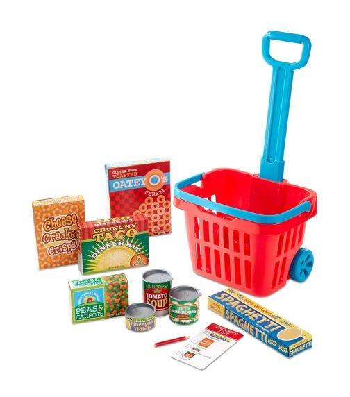 MELISSA&DOUG Rolling Grocery Basket