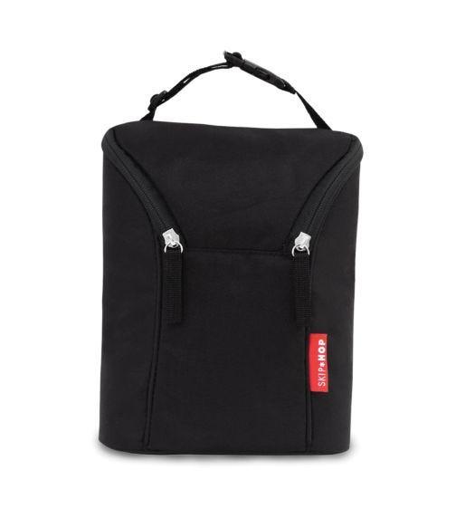 SKIP HOP Grab & Go Double Bottle Bag Black
