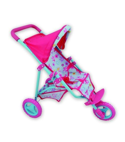 DOLLSWORLD Three Wheel Dolls Stroller Up To 56Cm