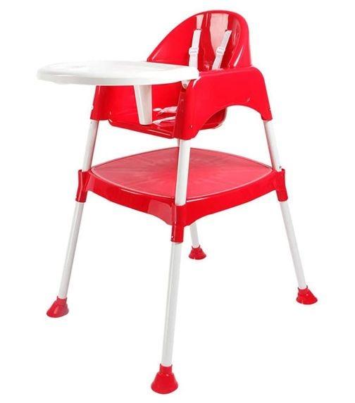 LUVLAP Adjustable Plastic Feeding High Chair 8850-Red