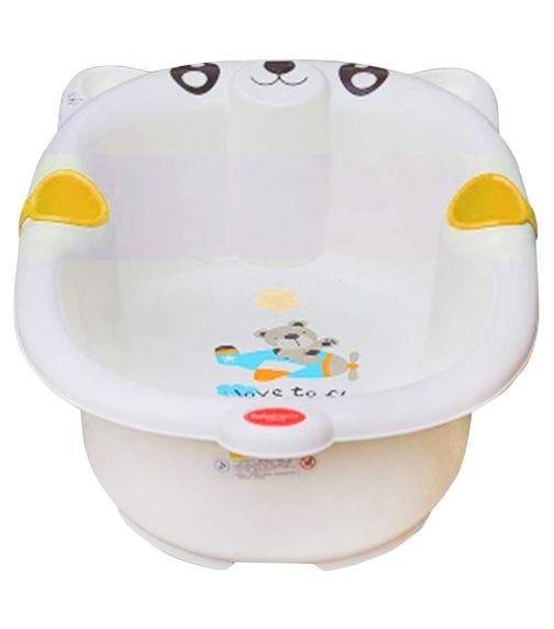 LUVLAP Bear Baby Bathing Tub Portable(16)-Yellow
