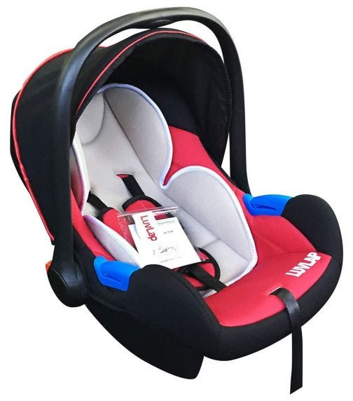 LUVLAP Infant Carrier Car Seat - Red